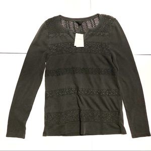 Lucky brand long sleeve lace shirt